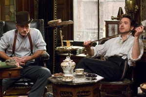 A shot from the latest Sherlock Holmes movie