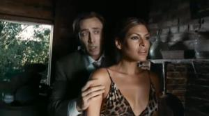 An image of Nicolas Cage and Eva Mendes from the film The Bad Lieutenant