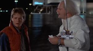 Michael J. Fox and Chrisopher Lloyd