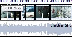A shot of the editing Time line