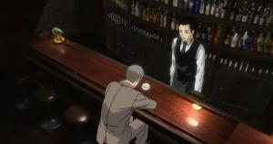 A customer in the anime Bartender
