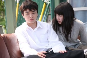 Shota Sometani and  Fumi Nikaido in Himizu