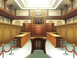 The court from Phoenix Wright