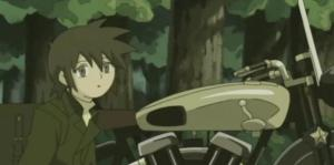 Kino and Hermes in Kino's Journey