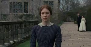 Jane Eyre (Mia Wasikowska) Takes a Turn in the Garden