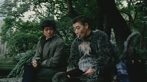 Starfish Hotel Arisu (Koichi Sato) and Bunny (Akira Emoto) in Conversation