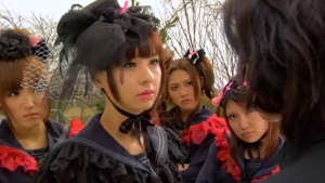 Keiko and Her Gothic Girl Gang in Vampire Girl vs Frankenstein Girl