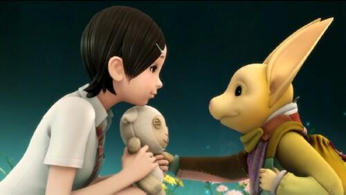 Oblivion Island's Haruka meets a strange creature