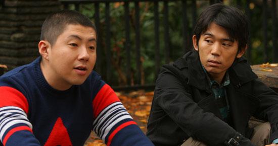 Arakawa as Teruo and Okada as Hisanobu in Fine, Totally Fine