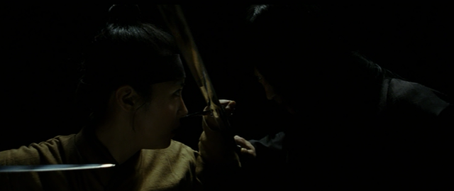 Namsoon (Ha Ji-won) and Sad Eyes (Gang Dong-won) in Duelist