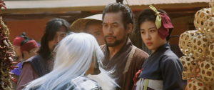 Namsoon (Ha Ji-won), Ahn (Ahn Sung-ki) and Sad Eyes (Gang Dong-won) in Duelist