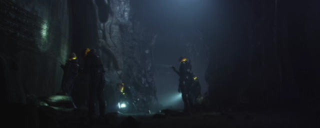 The Excavation Team Search For Clues in Prometheus