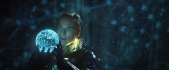Michael Fassbender as David in Prometheus