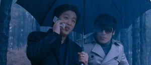 Man-sik and Jong-suk in The Man From Nowhere