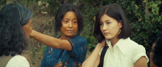 Kim Bok-Nam (Seo Young-Hee) and Hye-Won (Ji Sung-Won) Greet the Natives in Bedevilled