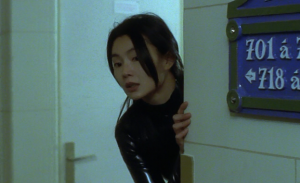 Maggie Cheung in Costume in Irma Vep