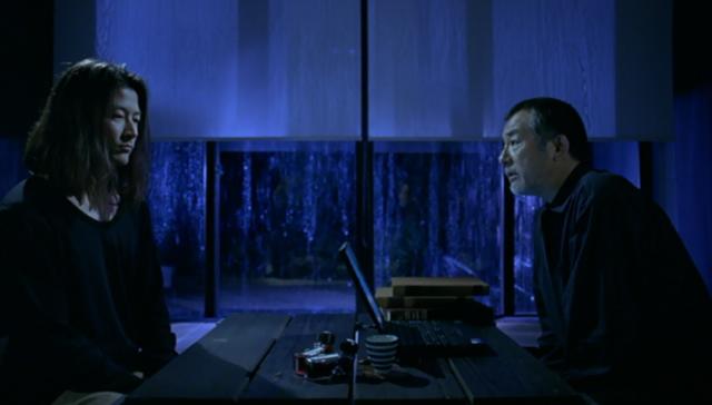 Vital Hiroshi (Asano) and his father (Kushida)