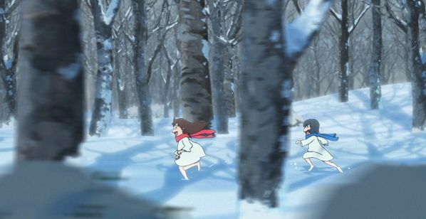 Wolf Children Snow Chase