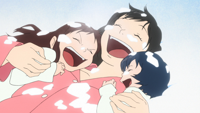 Wolf Children Snow Laughter