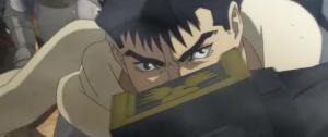 Berserk Anime Movie Guts in Combat