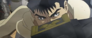 Berserk Anime Movie Guts in Combat