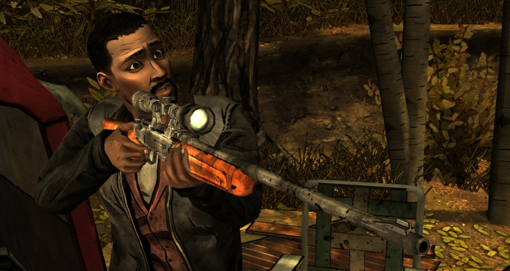 Lee in The Walking Dead Episode 2 – Genkinahito