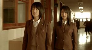 The Voice Sun-Min (Seo Ji-Hye) and Eun-Young (Kim Ok-Vin) Wander the Corridors