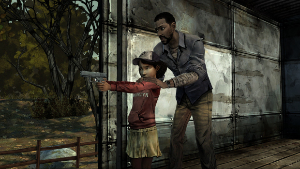 Walking Dead Clementine and Lee Training
