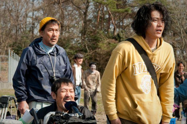 The Woodsman & the Rain Katsuhiko (Yakusho) and Koichi (Oguri)