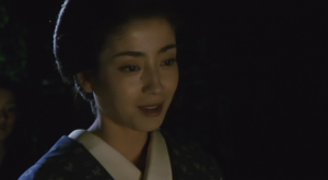 The Twilight Samurai Tomoe (Miyazawa) in Lantern Light