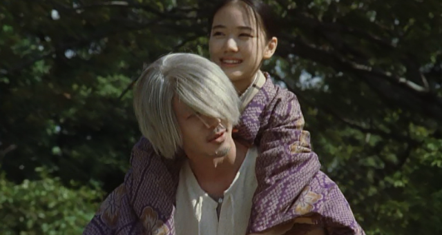 Mushishi Ginko (Odagiri) Carries Tanyu (Aoi)