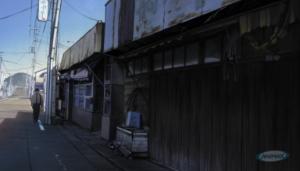 Aku no Hana Kasuga Wandering a Street