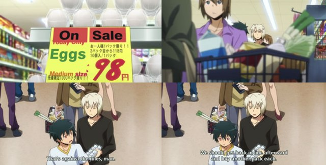Hataraku Maou Sama Grocery Shopping