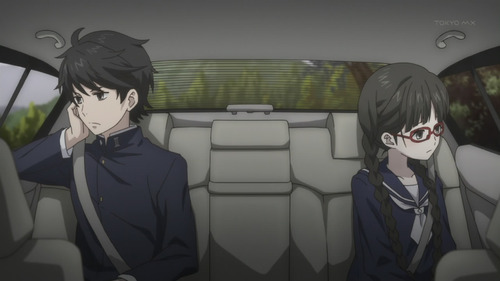 Red Data Girl Miyuki and Izumiko in Car