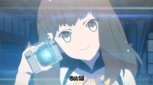 Gatchaman Crowds Hajime and Her NOTE