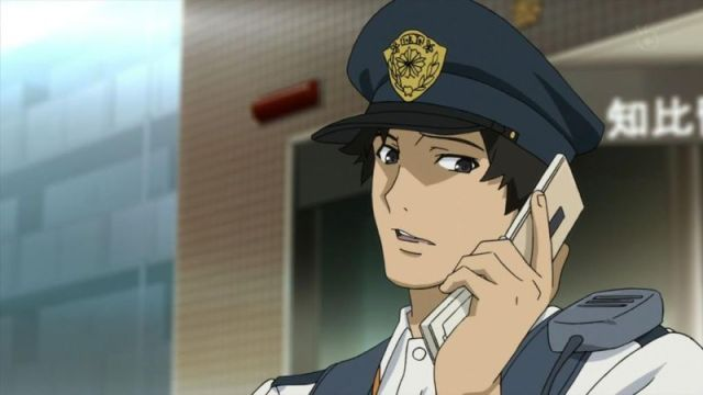 Samurai Flamenco Goto on His Phone