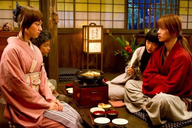 Kaoru (Emi Takei) Gets Jealous of Megumi (Aoi) and Kenshin (Sato) Rurouni Kenshin