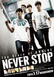 The Story of CNBlue Never Stop Film Poster