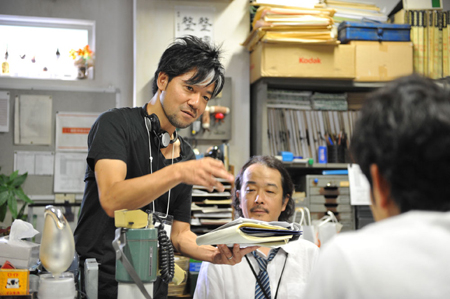 Judge! Akira Nagai on Set