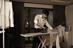 A Company Man Ironing