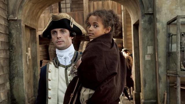 Captain Sir John Lindsay (Goode) and his daughter in Belle