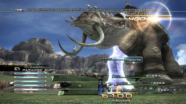 Final Fantasy XIII Adamantoise BAttle