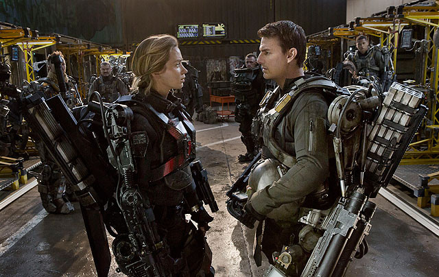 Emily and Tom Train in Edge of Tomorrow