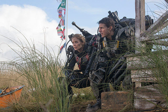 Emily and Tom Scope Out the Area in Edge of Tomorrow