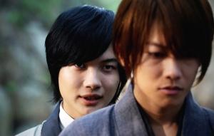 Rurouni Kenshin Sojiro (Kamiki) and Kenshin (Sato) Meet