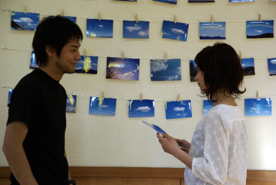 Kimi no Tomodachi Emi (Ishibashi) and Nakahara (Fukukshi) and the Cloud Pictures