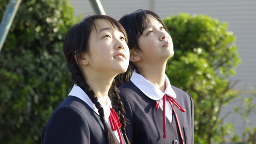 Kimi no Tomodachi Yuka (Kitaura) and Emi (Ishibashi) Gaze at Clouds