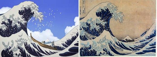 Genki Miss Hokusai Image Comparison