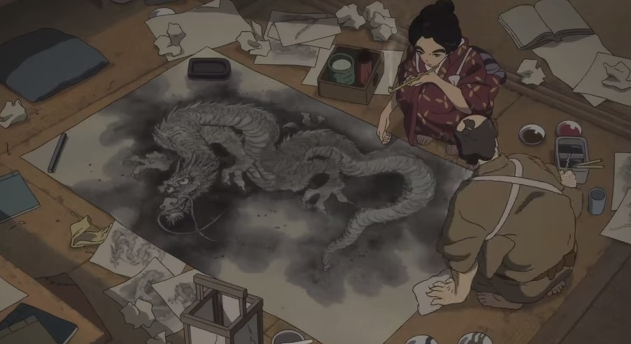 Miss Hokusai Helping Her Father