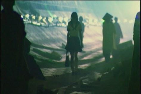 Hellevator Film Image Luchino (Fujisaki) walks towards us
